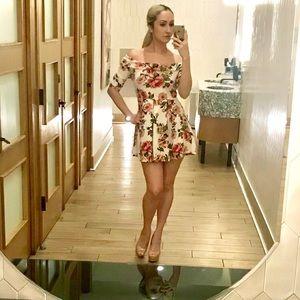 Off Shoulder Floral Dress!
